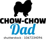 chow chow dad silhouette with... | Shutterstock .eps vector #1067234096