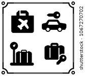 airport terminal icon vector set | Shutterstock .eps vector #1067270702