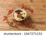 tofu pudding douhua  taiwan... | Shutterstock . vector #1067271152