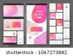 website template design with... | Shutterstock .eps vector #1067273882