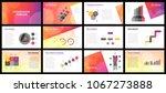business presentation templates.... | Shutterstock .eps vector #1067273888