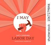 illustration for labor day | Shutterstock .eps vector #1067279846
