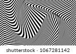 illusion pattern. stripes black ... | Shutterstock .eps vector #1067281142