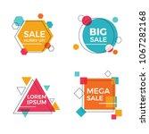 creative geometric sale banners | Shutterstock .eps vector #1067282168