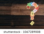 multicolored paper with... | Shutterstock . vector #1067289008