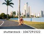 beautiful smiling asian woman...   Shutterstock . vector #1067291522