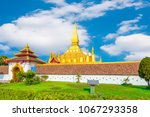 vientiane  laos. pha that luang ... | Shutterstock . vector #1067293358