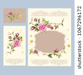 greeting cards with floral... | Shutterstock .eps vector #1067296172