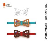 laser cut bow tie template... | Shutterstock .eps vector #1067297402