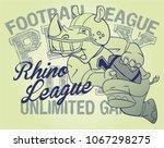 rhino football player | Shutterstock .eps vector #1067298275