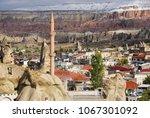 view on goreme village ... | Shutterstock . vector #1067301092