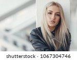 portrait of young beautiful... | Shutterstock . vector #1067304746