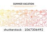 summer vacation web concept.... | Shutterstock .eps vector #1067306492