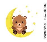 cute cartoon teddy bear on the... | Shutterstock .eps vector #1067308682