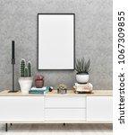 poster frame mockup. mock up. | Shutterstock . vector #1067309855