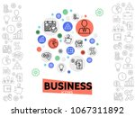 business and management concept | Shutterstock .eps vector #1067311892