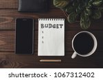 budget planing concept. top... | Shutterstock . vector #1067312402