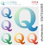 quora geometric polygonal icons ... | Shutterstock .eps vector #1067316305