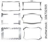 iron  silver frames isolated on ... | Shutterstock . vector #106732505
