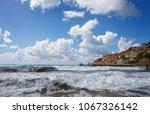 scenic view of golden bay in... | Shutterstock . vector #1067326142