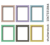 set of colorful wooden frames.... | Shutterstock .eps vector #1067331866
