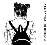 illustration of beauty girl... | Shutterstock .eps vector #1067335562