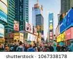 new york  usa   april 26  2015  ...   Shutterstock . vector #1067338178