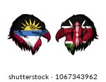 antigua ang barbuda vs kenya | Shutterstock . vector #1067343962