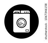 washing machine vector icon...