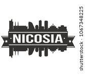 nicosia cyprus skyline banner... | Shutterstock .eps vector #1067348225