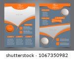 abstract flyer template.... | Shutterstock .eps vector #1067350982