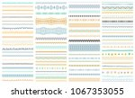 brush strokes  lines collection.... | Shutterstock .eps vector #1067353055