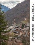 The mountain village of Bozel, Tarentaise, Vanoise, Rhone Alpes, Savoie, France