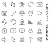 thin line icon set   chart... | Shutterstock .eps vector #1067362046