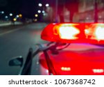Police Car Lights In Night Time ...