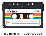 Cassette With Retro Label As...