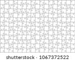 isolated puzzle pattern with... | Shutterstock .eps vector #1067372522