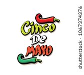 cinco de mayo label with hand... | Shutterstock .eps vector #1067374376