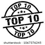 top 10 round grunge black stamp | Shutterstock .eps vector #1067376245