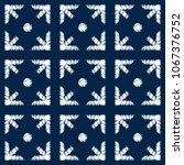 abstract indigo shibori... | Shutterstock .eps vector #1067376752