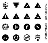 solid vector icon set   road... | Shutterstock .eps vector #1067381042