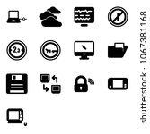 solid vector icon set  ... | Shutterstock .eps vector #1067381168
