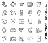 thin line icon set   business... | Shutterstock .eps vector #1067382662