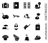 solid vector icon set  ... | Shutterstock .eps vector #1067383202