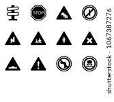 solid vector icon set   road... | Shutterstock .eps vector #1067387276