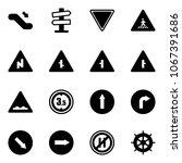 solid vector icon set  ... | Shutterstock .eps vector #1067391686