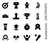 solid vector icon set   target... | Shutterstock .eps vector #1067394395