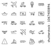 thin line icon set   home... | Shutterstock .eps vector #1067400896