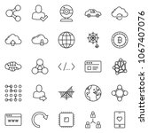 thin line icon set   web camera ... | Shutterstock .eps vector #1067407076