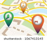 set of tourism services map... | Shutterstock .eps vector #1067413145